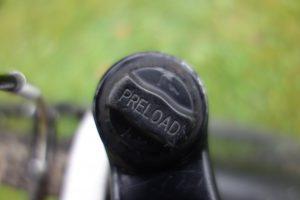 instelknop elastomeer voorvork mountainbike